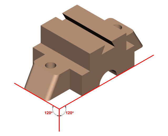 Isometric View | Orthographic projection - Engineering Drawing