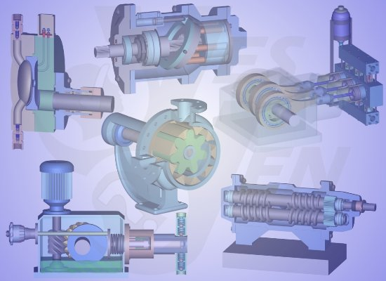 rotary pump types / reciprocating pump types